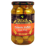 Greek Olives Stuffed with Pimiento (Tassos) 12.84 oz - Parthenon Foods