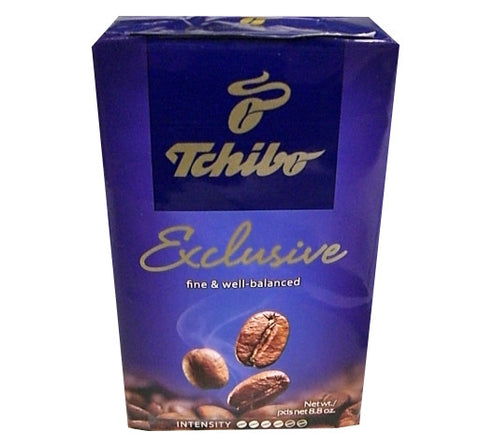 Tchibo Exclusive Ground Coffee, 8.8 oz (250g) - Parthenon Foods