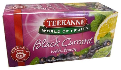 Black Currant with Lemon (Teekanne) 20 tea bags - Parthenon Foods