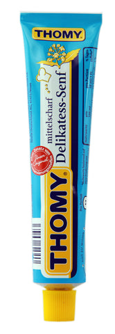 Thomy Delikatess Senf - Mild Mustard, 100ml tube - Parthenon Foods