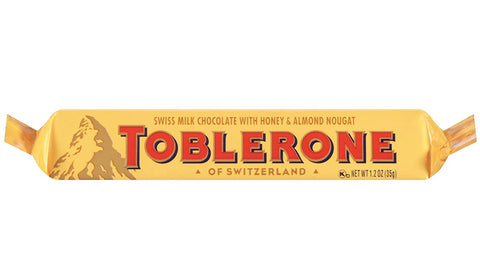 Toblerone Milk Chocolate, 35 g (1.2 oz) Small Bar - Parthenon Foods
