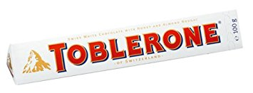 Toblerone White Chocolate, 100g (3.52 oz.) - Parthenon Foods