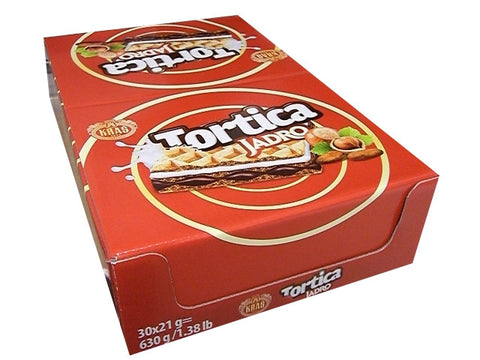 Tortica JADRO Wafers (Kras) CASE, 30x21g - Parthenon Foods