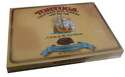 Tortuga Chocolate Rum Turtles with Sea Salt, 7.5 oz - Parthenon Foods