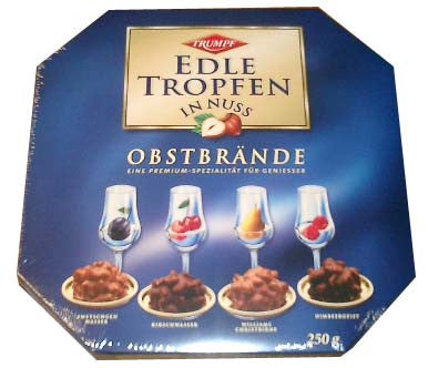 Trumpf Edle Tropfen In Nuss, 250g Blue Box - Parthenon Foods