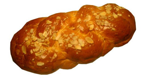 Greek Sweet Bread, Long, Tsoureki, 1lb with Almonds - Parthenon Foods