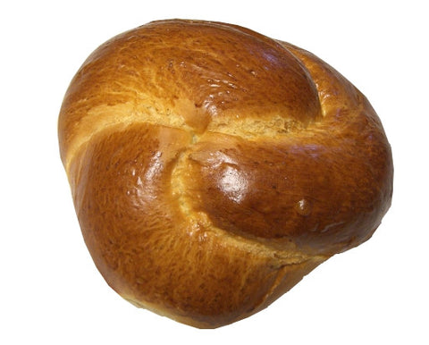 Greek Sweet Bread, Tsoureki 1lb, Round, Plain - Parthenon Foods