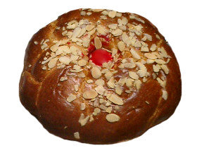 Greek Easter Bread, Tsoureki, 1.5lb with Red Egg and Almonds - Parthenon Foods