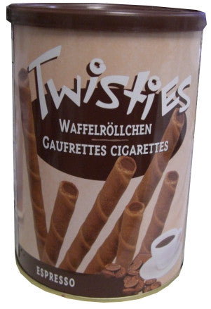 Twisties Wafer Rolls, Espresso, 400g - Parthenon Foods