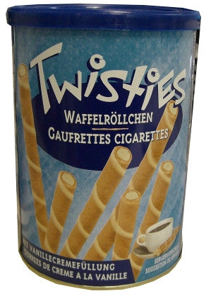 Twisties Wafer Rolls, Vanilla, 400g - Parthenon Foods