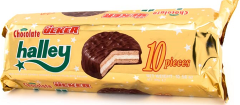 Halley Chocolate Coated Sandwich Biscuits (Ulker) 10pc, 300g - Parthenon Foods