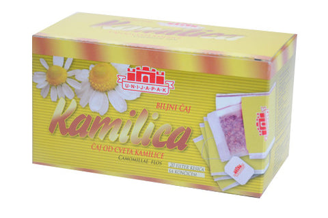 Chamomile Flower Herbal Tea, Kamilica (Unijapak) 18g - Parthenon Foods
