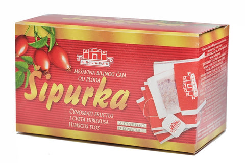 Rosehip Herbal Tea, Sipurka (Unijapak) 40g - Parthenon Foods