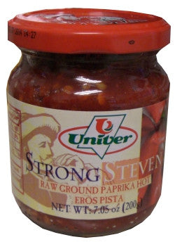 Strong Steven Raw Ground Paprika Hot, 7.05 oz (200g) - Parthenon Foods