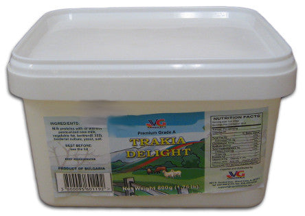 Trakia Delight Cream Feta Cheese (VG) 800g (1.76 lb) - Parthenon Foods