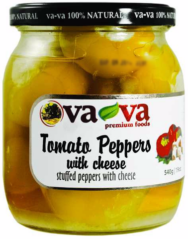 Tomato Peppers Stuffed with Cheese (Vava) 540g - Parthenon Foods