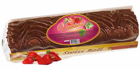 Swiss Roll Filled with Strawberry Cream (Vincinni) 10.58 oz (300g) - Parthenon Foods