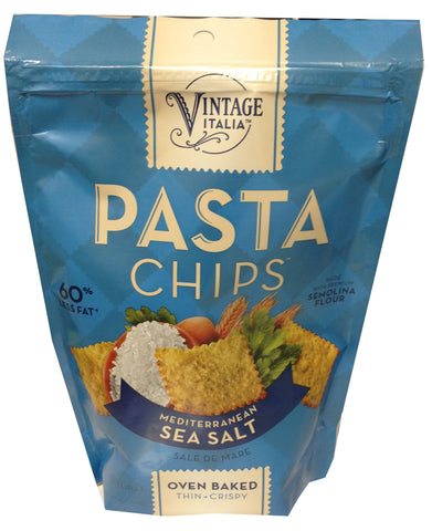 Pasta Chips, Mediterranean Sea Salt, 5 oz - Parthenon Foods