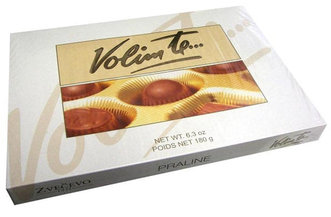 Praline Chocolate Gift Box, VOLIM TE, 180g - Parthenon Foods