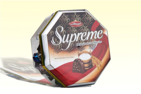 Supreme Assorted Chocolates with Rice Crisps (Wellmade) 700g - Parthenon Foods