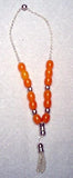 Worry Beads - Komboloi, Yellow with Silver - Parthenon Foods