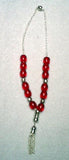 Worry Beads - Komboloi, Red with Silver - Parthenon Foods