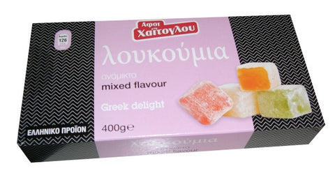 Loukoumi Greek Delight Mixed Flavors (Xaitoglou) 400g - Parthenon Foods