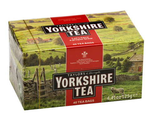 Yorkshire Tea, Red, 40 tea bags (125g) - Parthenon Foods