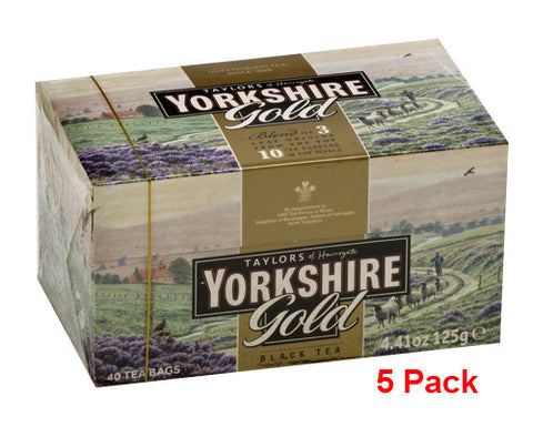 Yorkshire Gold Tea, CASE (5 x 40 tea bags (125g)) - Parthenon Foods