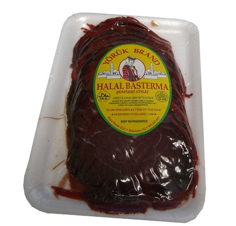 Basterma-Cured Dried Beef SLICED (Yoruk) approx. 0.5 lb - Parthenon Foods