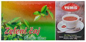 Green Tea, Zeleni Caj (Yumis) 20 tea bags, 30g - Parthenon Foods