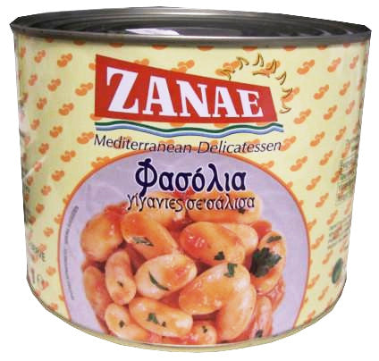 Giant Butter Beans in Tomato Sauce (Zanae) 2000g (4lb 6oz) - Parthenon Foods