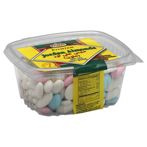 Sugar Covered Assorted Jordan Almonds, 12oz - Parthenon Foods