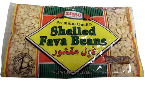 Shelled Fava Beans (Ziyad) 16 oz (1lb) bag - Parthenon Foods