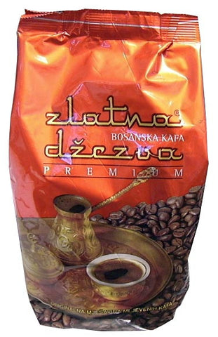 Bosnian Ground Coffee, Premium, Zlatna Dzezva, 500g, Red Bag - Parthenon Foods