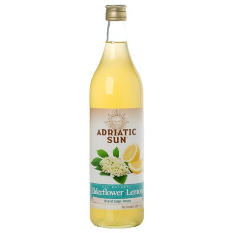 Elderflower Lemon Syrup (Adriatic Sun) 33.8 fl oz (1L) - Parthenon Foods