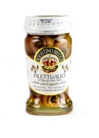 Anchovy Fillets in Olive Oil - Rolled with Capers  95g - Parthenon Foods