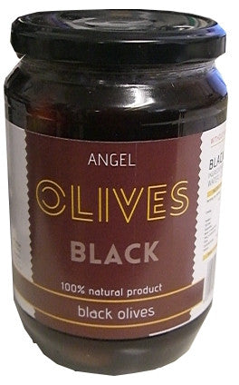 Angel Greek Black Olives, 1kg - Parthenon Foods