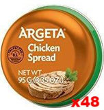 Chicken Pate (Argeta) CASE (48 x 95g) - Parthenon Foods