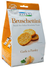 Bruschettini, Garlic & Parsley (Asturi) 120g - Parthenon Foods