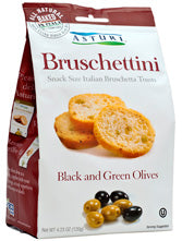Bruschettini, Black and Green Olives (Asturi) 120g - Parthenon Foods