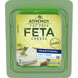 Traditional Fat Free Feta Cheese - Chunk (Athenos) 6 oz - Parthenon Foods