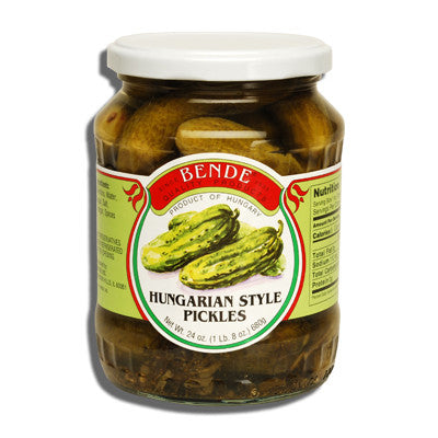 Hungarian Style Pickles, (Bende) 24oz - Parthenon Foods