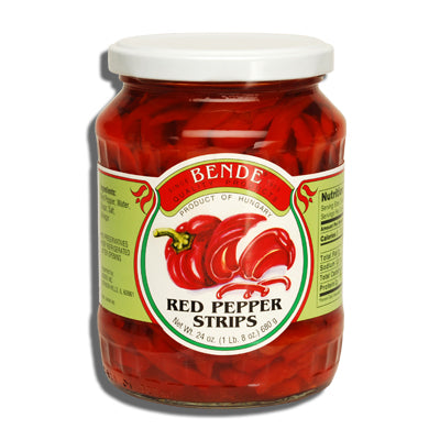 Red Pepper Strips (Bende) 24oz - Parthenon Foods