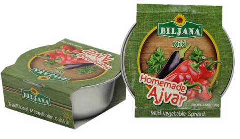 Home Made Ajvar-Mild (Biljana) (2 x 3.5oz) - 2 PACK - Parthenon Foods