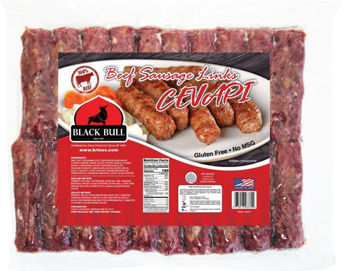 Cevapi (Beef Sausage Links) (Black Bull Brand) 2.0 lb - Parthenon Foods
