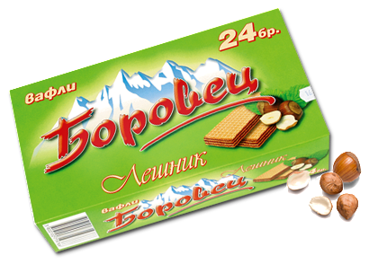 Borovec Hazelnut Filled Wafers, 550g - Parthenon Foods