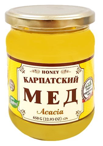 Acacia Honey (Carpathian) 650 g (22.93 oz) - Parthenon Foods