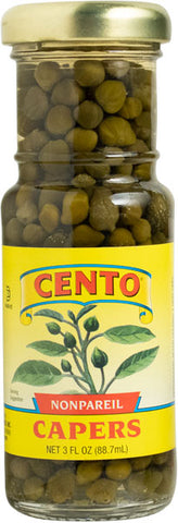 Capers, Nonpareil (Cento) 3 oz - Parthenon Foods