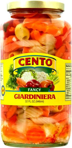 Giardiniera, Fancy (Cento) 32 oz - Parthenon Foods